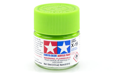 TAMIYA ACRYLIC MINI X-15 LIGHT GREEN 10ml