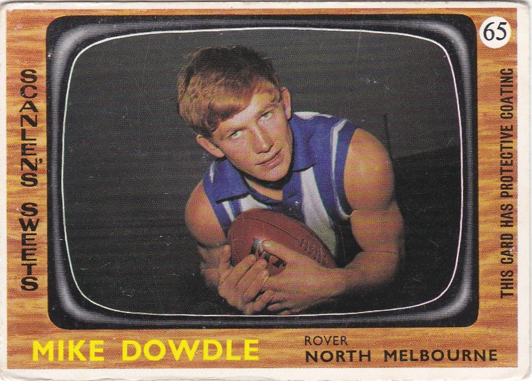 Mike Dowdle, 1967 Scanlens VFL