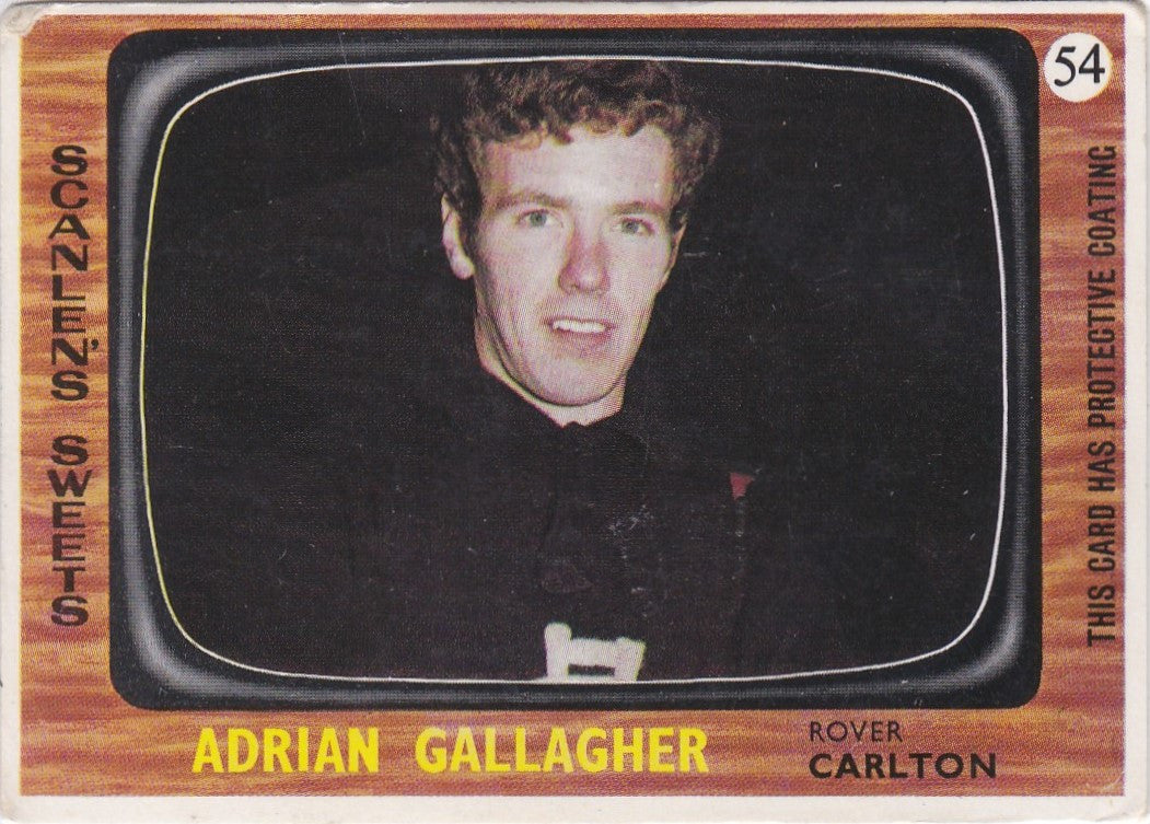 Adrian Gallagher, 1967 Scanlens VFL