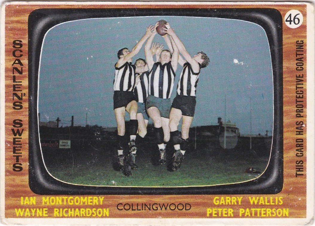 Collingwood Four, 1967 Scanlens VFL