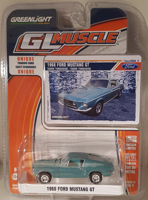 1968 Ford Mustang GT, Greenlight GL Muscle, 1:64 Diecast Vehicle