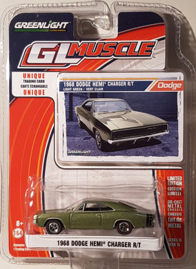 1968 Dodge Hemi Charger R/T, Greenlight GL Muscle, 1:64 Diecast Vehicle
