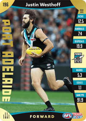 Justin Westhoff, Gold, 2019 Teamcoach AFL