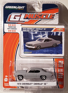 1970 Chevrolet Chevelle SS Primer Grey, Greenlight GL Muscle, 1:64 Diecast Vehicle