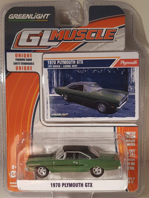 1970 Plymouth GTX, Greenlight GL Muscle, 1:64 Diecast Vehicle
