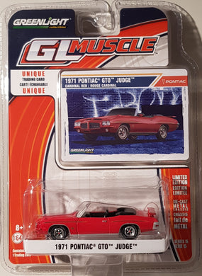 1971 Pontiac GTO Judge, Greenlight GL Muscle, 1:64 Diecast Vehicle