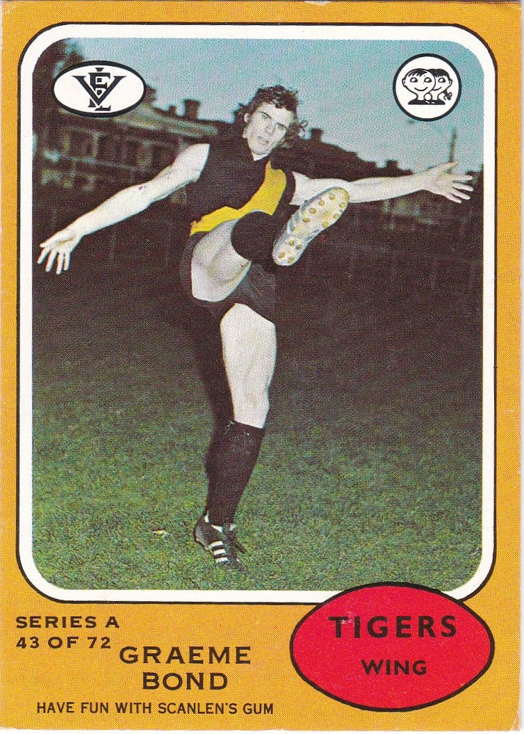 Graeme Bond, 1973 Scanlens Series A VFL