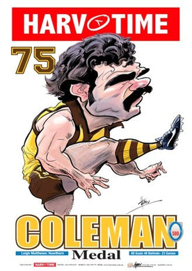 Leigh Matthews, 1975 Coleman Medal, Harv Time Poster