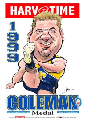 Scott Cummings, 1999 Coleman Medal, Harv Time Poster