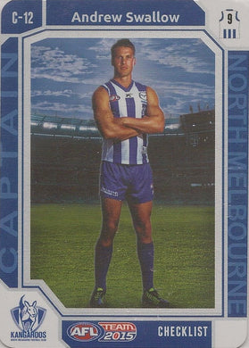 Andrew Swallow, Captain Checklist, 2015 Teamcoach AFL