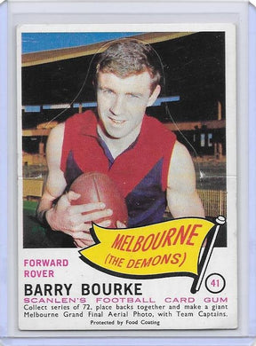 Barry Bourke, Die-Cut, 1966 Scanlens VFL