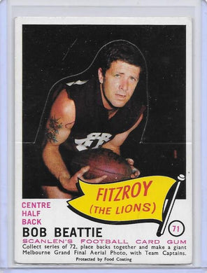 Bob Beattie, Die-Cut, 1966 Scanlens VFL