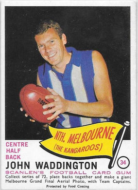 John Waddington, 1966 Scanlens  VFL