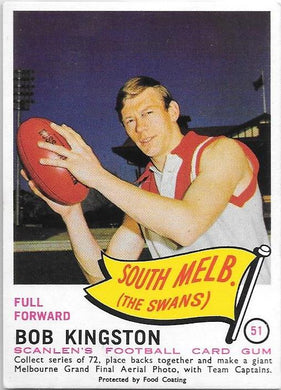 Bob Kingston, 1966 Scanlens VFL