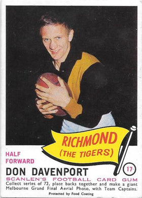 Don Davenport, 1966 Scanlens VFL