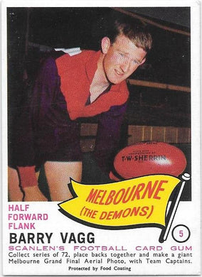 Barry Vagg, 1966 Scanlens VFL
