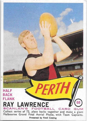 Ray Lawrence, 1966 Scanlens VFL