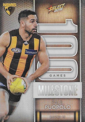 Paul Puopolo, 100 Games Milestone, 2016 Select AFL Footy Stars