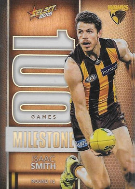 Isaac Smith, 100 Games Milestone, 2016 Select AFL Footy Stars