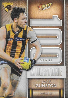 Jack Gunston, 100 Games Milestone, 2016 Select AFL Footy Stars