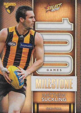 Matthew Suckling, 100 Games Milestone, 2016 Select AFL Footy Stars
