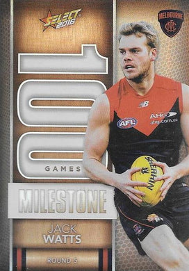 Jack Watts, 100 Games Milestone, 2016 Select AFL Footy Stars
