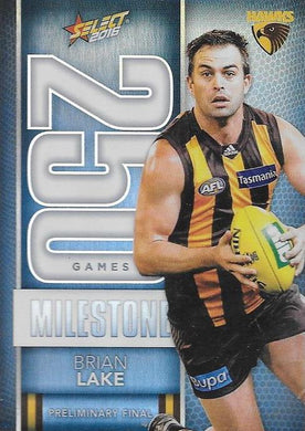 Brian Lake, 250 Games Milestone, 2016 Select AFL Footy Stars