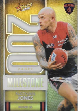 Nathan Jones, 200 Games Milestone, 2016 Select AFL Footy Stars