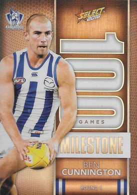 Ben Cunnington, 100 Games Milestone, 2016 Select AFL Footy Stars