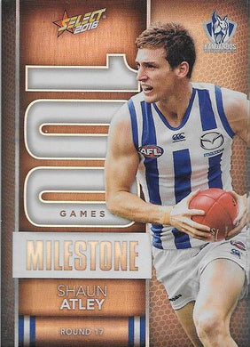 Shaun Atley, 100 Games Milestone, 2016 Select AFL Footy Stars