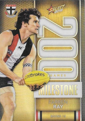 Farren Ray, 200 Games Milestone, 2016 Select AFL Footy Stars