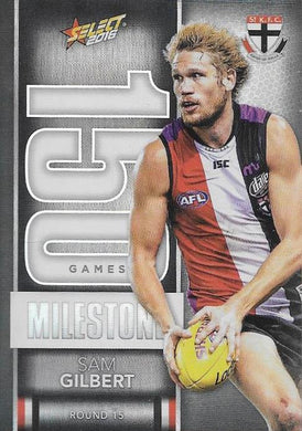 Sam Gilbert, 150 Games Milestone, 2016 Select AFL Footy Stars