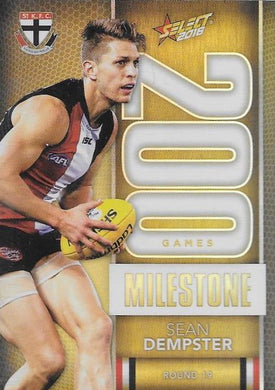 Sean Dempster, 200 Games Milestone, 2016 Select AFL Footy Stars