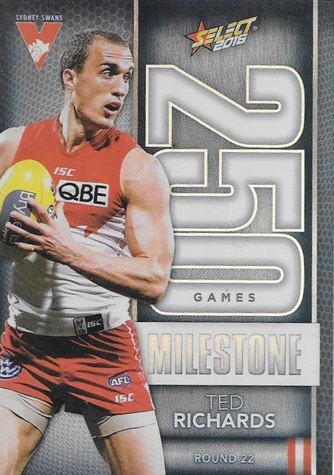 Ted Richards, 250 Games Milestone, 2016 Select AFL Footy Stars