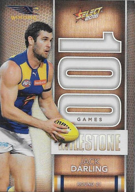 Jack Darling, 100 Games Milestone, 2016 Select AFL Footy Stars