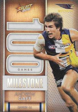 Andrew Gaff, 100 Games Milestone, 2016 Select AFL Footy Stars