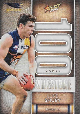 Luke Shuey, 100 Games Milestone, 2016 Select AFL Footy Stars