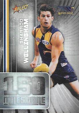 Sharrod Wellingham, 150 Games Milestone, 2017 Select AFL Footy Stars