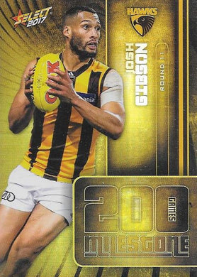Josh Gibson, 200 Games Milestone, 2017 Select AFL Footy Stars