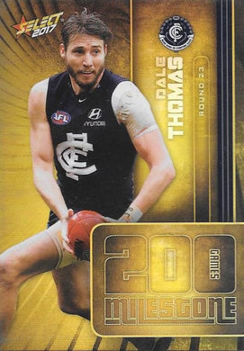 Dale Thomas, 200 Games Milestone, 2017 Select AFL Footy Stars