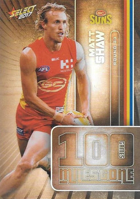 Matt Shaw, 100 Games Milestone, 2017 Select AFL Footy Stars