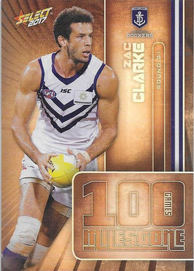 Zac Clarke, 100 Games Milestone, 2017 Select AFL Footy Stars