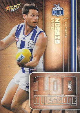 Sam Gibson, 100 Games Milestone, 2017 Select AFL Footy Stars