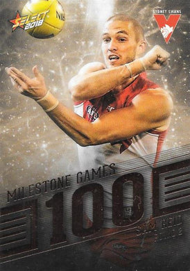 Sam Reid, 100 Games Milestone, 2018 Select AFL Footy Stars