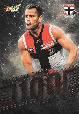 Maverick Weller, 100 Games Milestone, 2018 Select AFL Footy Stars