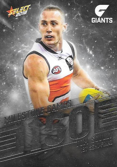 Tom Scully, 150 Games Milestone, 2018 Select AFL Footy Stars