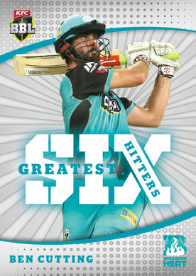 Set of 8 Greatest Six Hitters, 2018-19 Tap'n'play CA BBL 08 Cricket