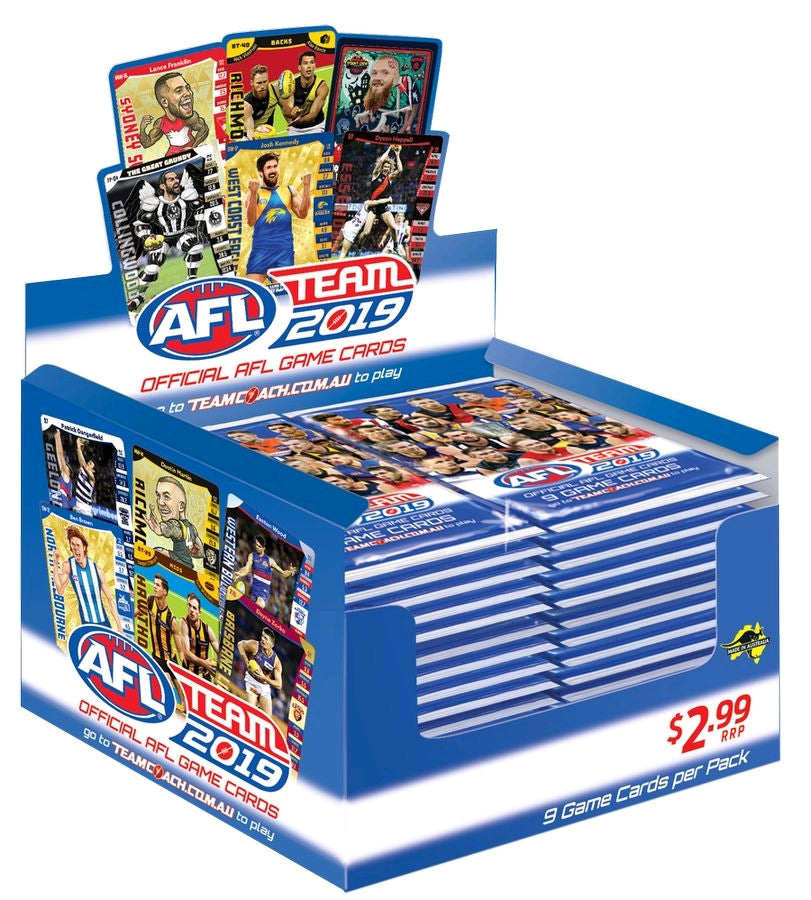 2019 Teamcoach AFL 36 pack box
