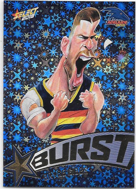 Bryce Gibbs, Team Logo Starburst Caricatures, 2019 Select AFL Footy Stars