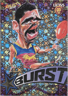 Charlie Cameron, Team Logo Starburst Caricatures, 2019 Select AFL Footy Stars
